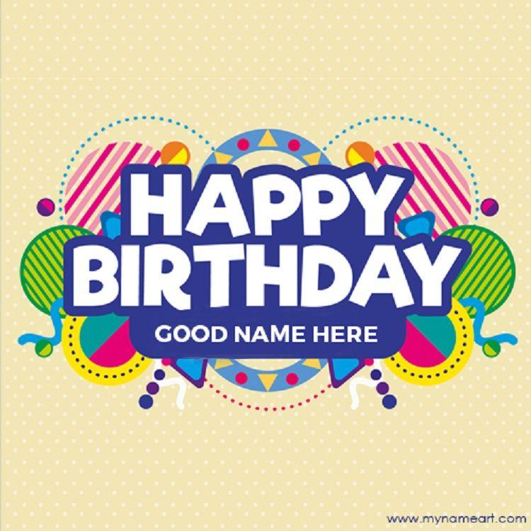 Happy Birthday Invitation Card With Photo N Name Edit