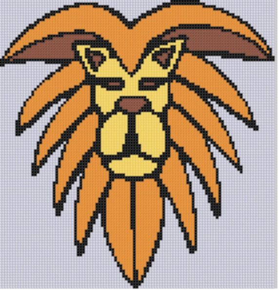 Lion Head 2 Cross Stitch Pattern By Motherbeedesigns On Etsy 099