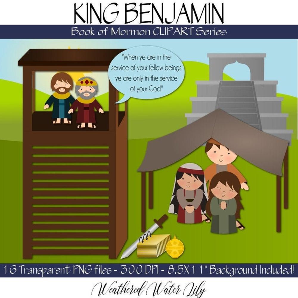 King Benjamin Clip Art Book Of Mormon Clip Art Instant Download