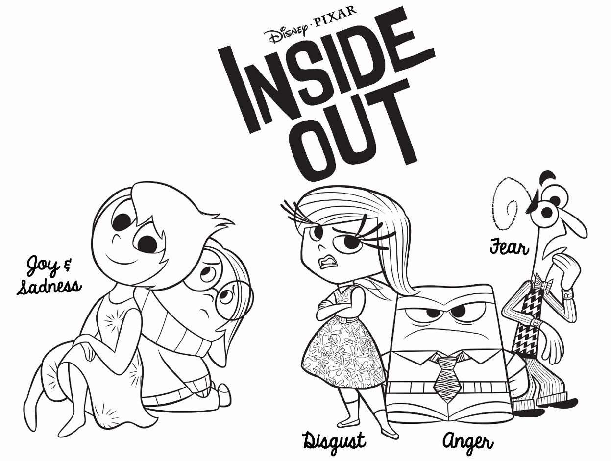 Inside Out Printable Coloring Pages Unique Fuentes English Corner Inside Out Disney Pixar Coloring For Kids Inside Out Coloring Pages Coloring Sheets For Kids