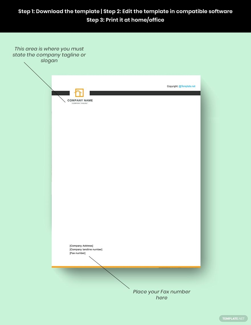 Modern Real Estate Letterhead Template Free Jpg Illustrator Indesign Word Apple Pages Psd Template Net Letterhead Template Letterhead Design Letterhead Real estate letterhead templates free