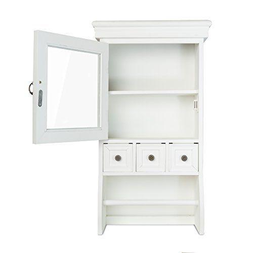elbmöbel H60 x B34 x T16cm Wandschrank Küchenschrank Landhaus weiß - gewürzregale für küchenschränke