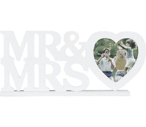 Hübscher Bilderrahmen in Weiß - perfekt für romantische Fotos