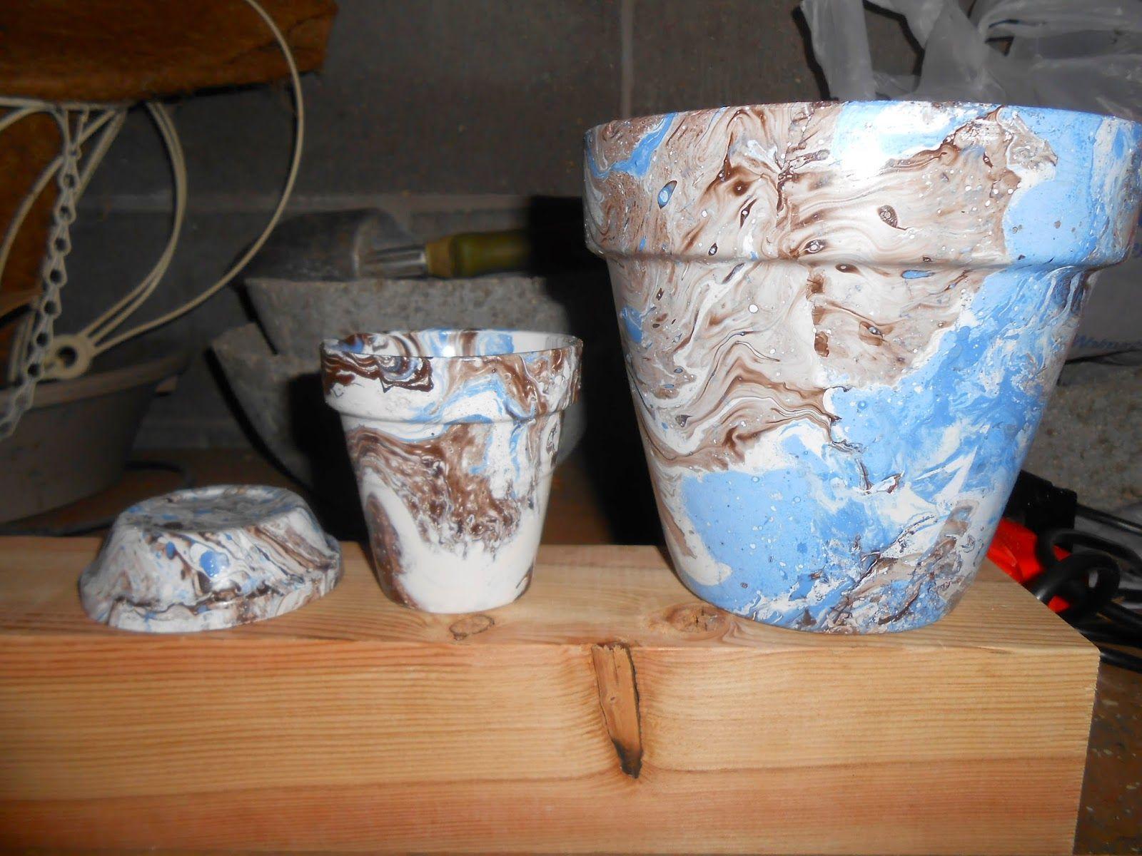 Sproutsandstuff Terracotta Flower Pots Flower Pots Crackle Painting