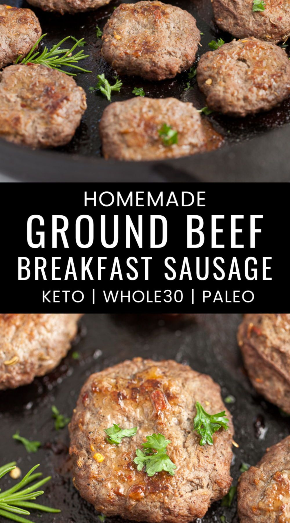 Ground Beef Breakfast Sausage Keto Whole30 Paleo In 2020 Beef Sausage Recipes Ground Beef Breakfast Homemade Sausage Recipes