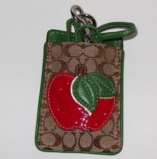 Coach Apple Motif Lanyard ID Case. Love the apple and