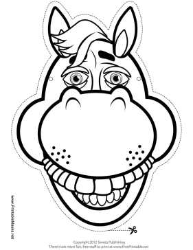 Printable Horse Mask To Color Mask Horse Mask Printable Animal Masks Horse Outline