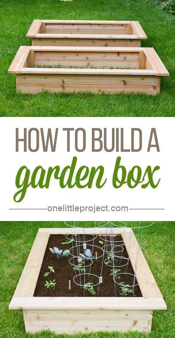 How to build a garden box - This step by step photo tutorial shows exactly how to make one! #raisedgardens