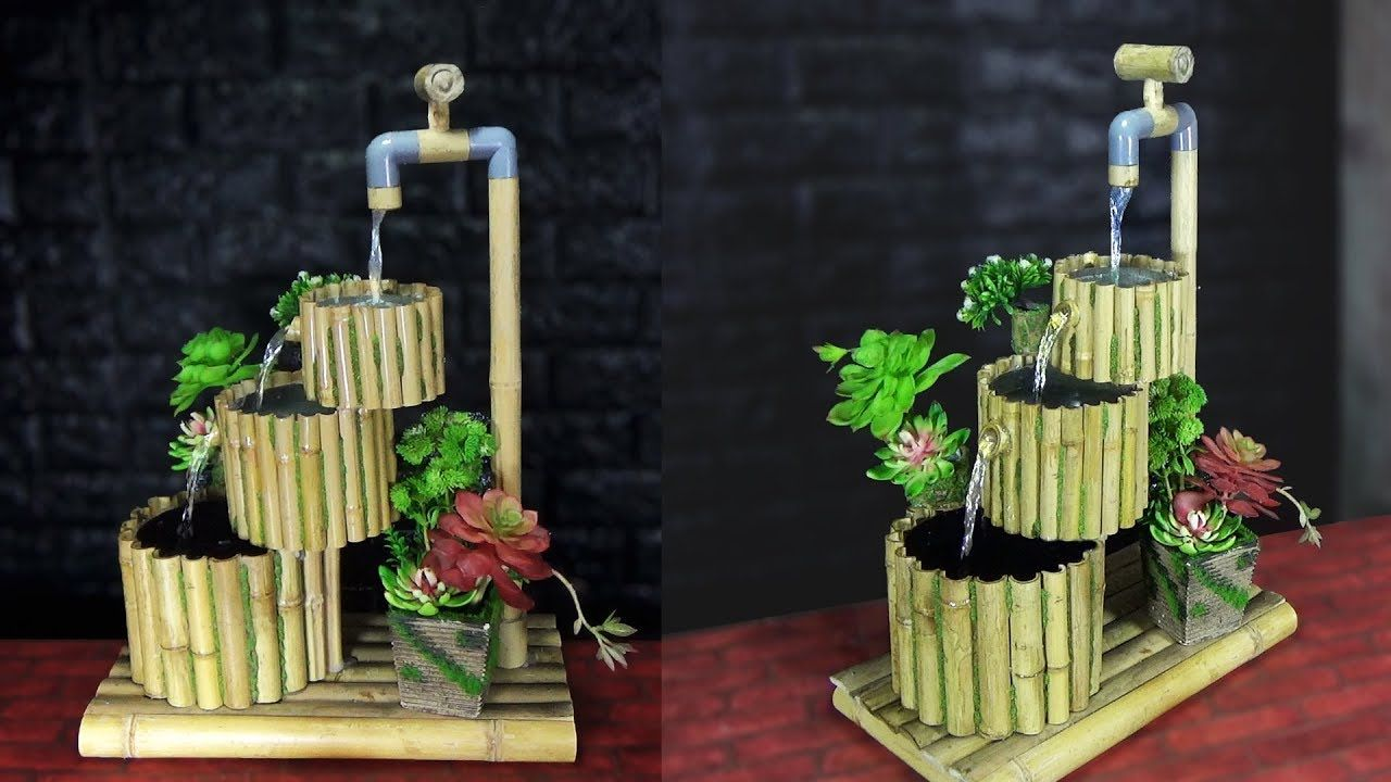 HOMEMADE WATER FOUNTAIN IDEAS from BAMBOO Homemade water