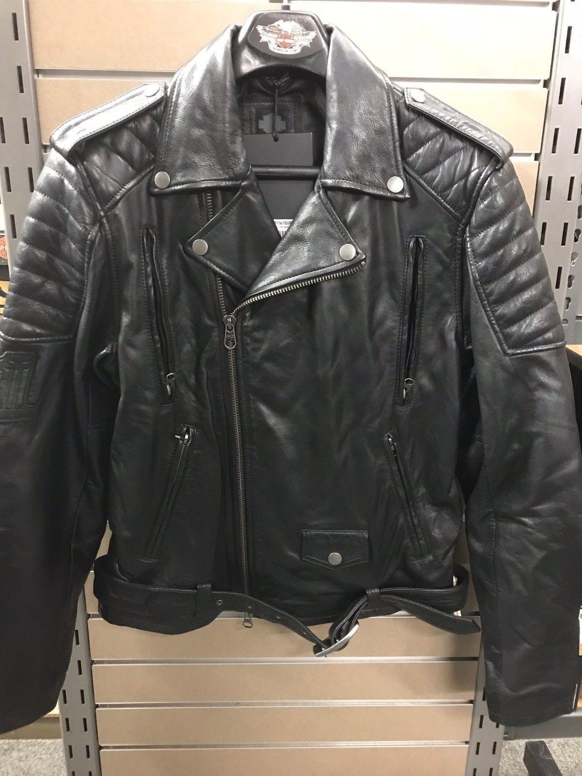 Harley Davidson Mens Black Label Core 1 Skull Leather Biker Jacket Jaket Kulit Pria David 98114 16vm Item Specifics Condition New With Tags A Brand Unused And Unworn