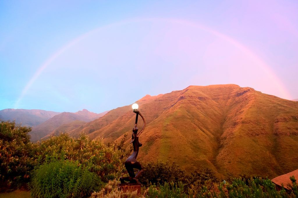 A Beautiful Rainbow Seen From Maliba Lodge In Lesotho Check Our Website For The Latest Specials Lesotho Lodge Beautiful Rainbow