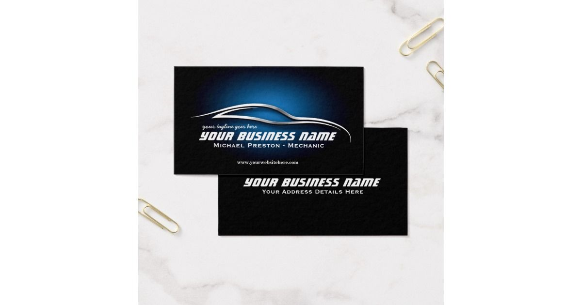 A professional automotive business card template perfect for a car a professional automotive business card template perfect for a car mechanic used cars store reheart Choice Image