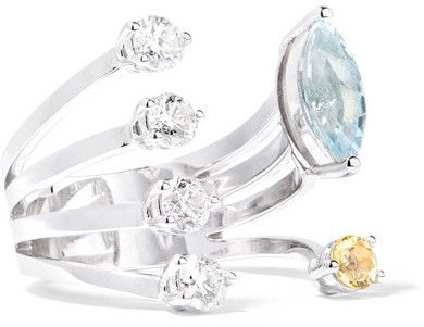 18-karat White Gold Multi-stone Ring - 6 Delfina Delettrez YxOwL4Si
