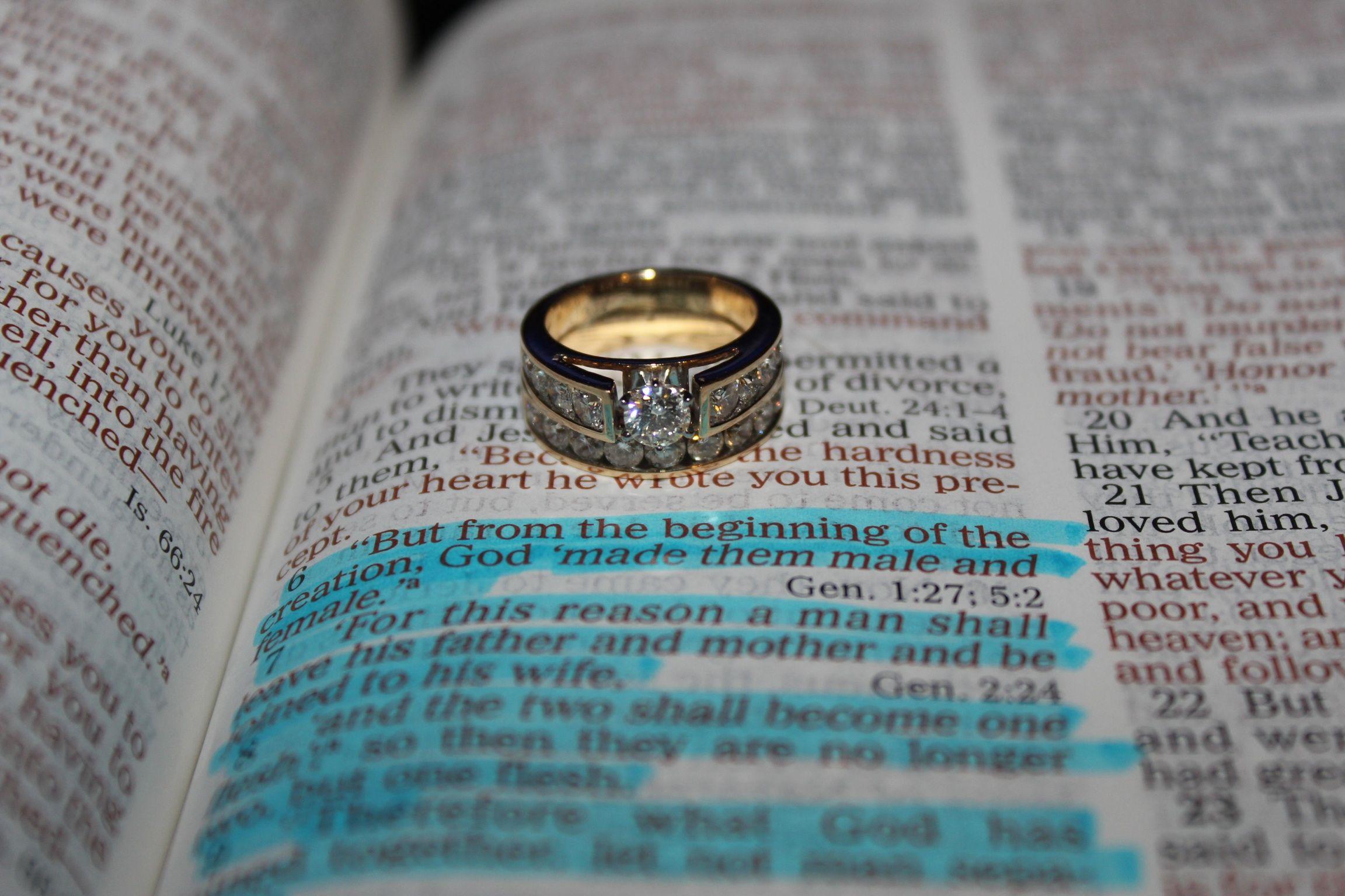 Bible verse and wedding ring My photographs Pinterest Weddings