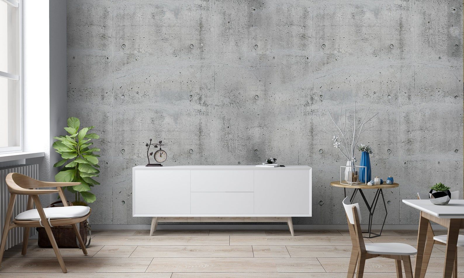 Concrete Grey Fibreglass Wallpaper To Measure Wall Art Etsy In 2020 Wall Tiles Living Room Grey Wallpaper Concrete Wallpaper