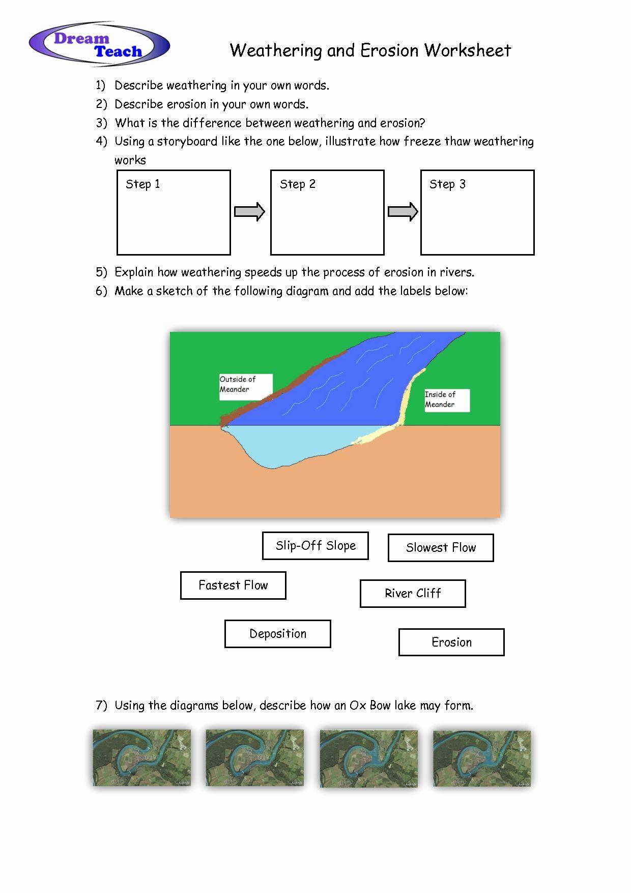 Weathering Erosion And Deposition Worksheet Beautiful