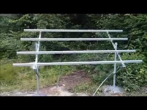 My Diy Unistrut Or Super Strut Frame Of The New Solar Tracker Youtube Solar Panels Diy Solar Panel Best Solar Panels