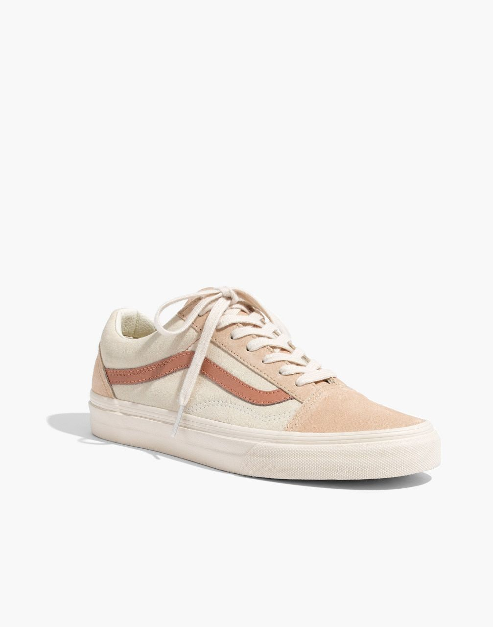 e737af600c8 Madewell x Vans® Unisex Old Skool Lace-Up Sneakers in Camel Colorblock