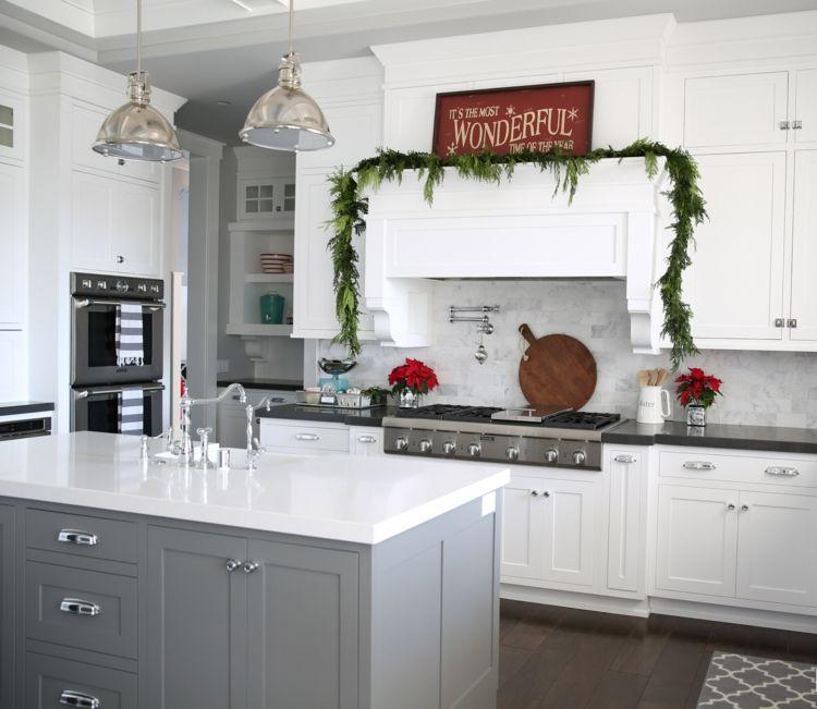 k che dekorieren weihnachtlich girlande abzugshaube schlicht modern skandinavisch. Black Bedroom Furniture Sets. Home Design Ideas