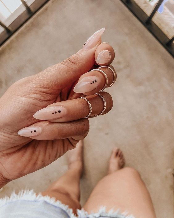 Almond-shaped nails are an upgrade from basic round nails and are less dangerous looking than stilettos. Almond shapes are the perfect nail shape for those who need to be able to still use their fingers for work and you can do them in a variety of lengths! Now that you are in the know about the best nail shape, check out these ideas for the best colors to paint them!    #almondnails #nails #manicure