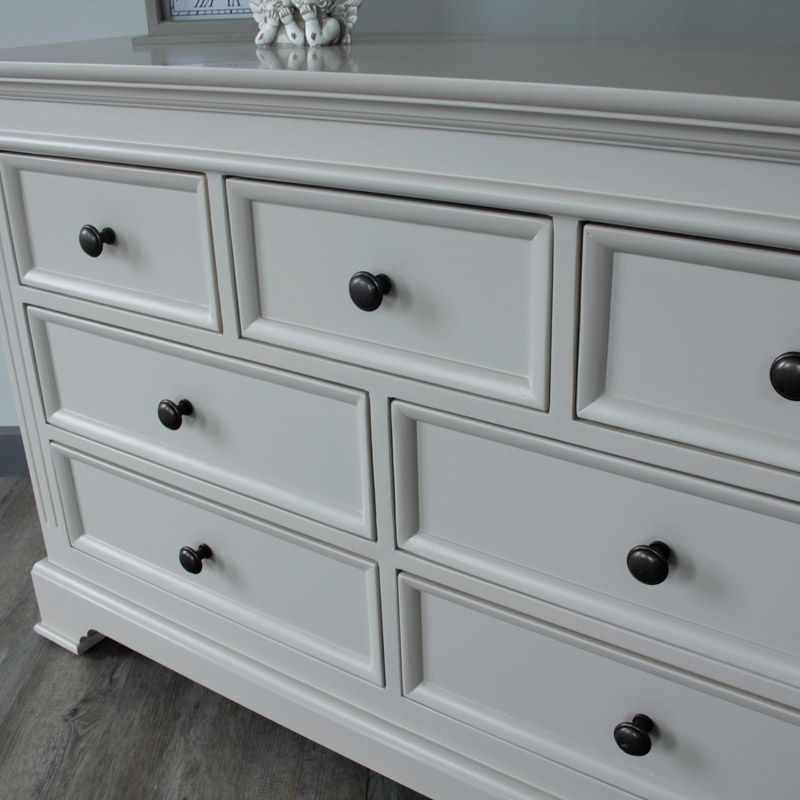 Daventry Range Grey 7 Drawer Chest Of Drawers Made From A Sy Solid Wood The Is Beautiful And Practical