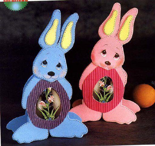 Moldes de conejos de pascua en foami - Imagui