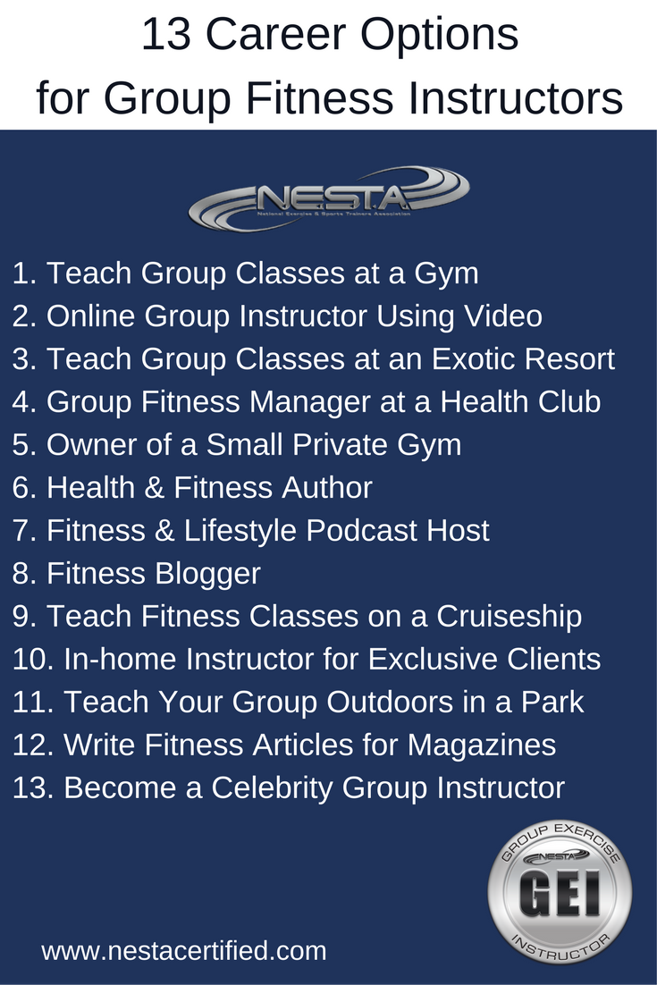 Group Exercise Instructor Certification Group Fitness Personal