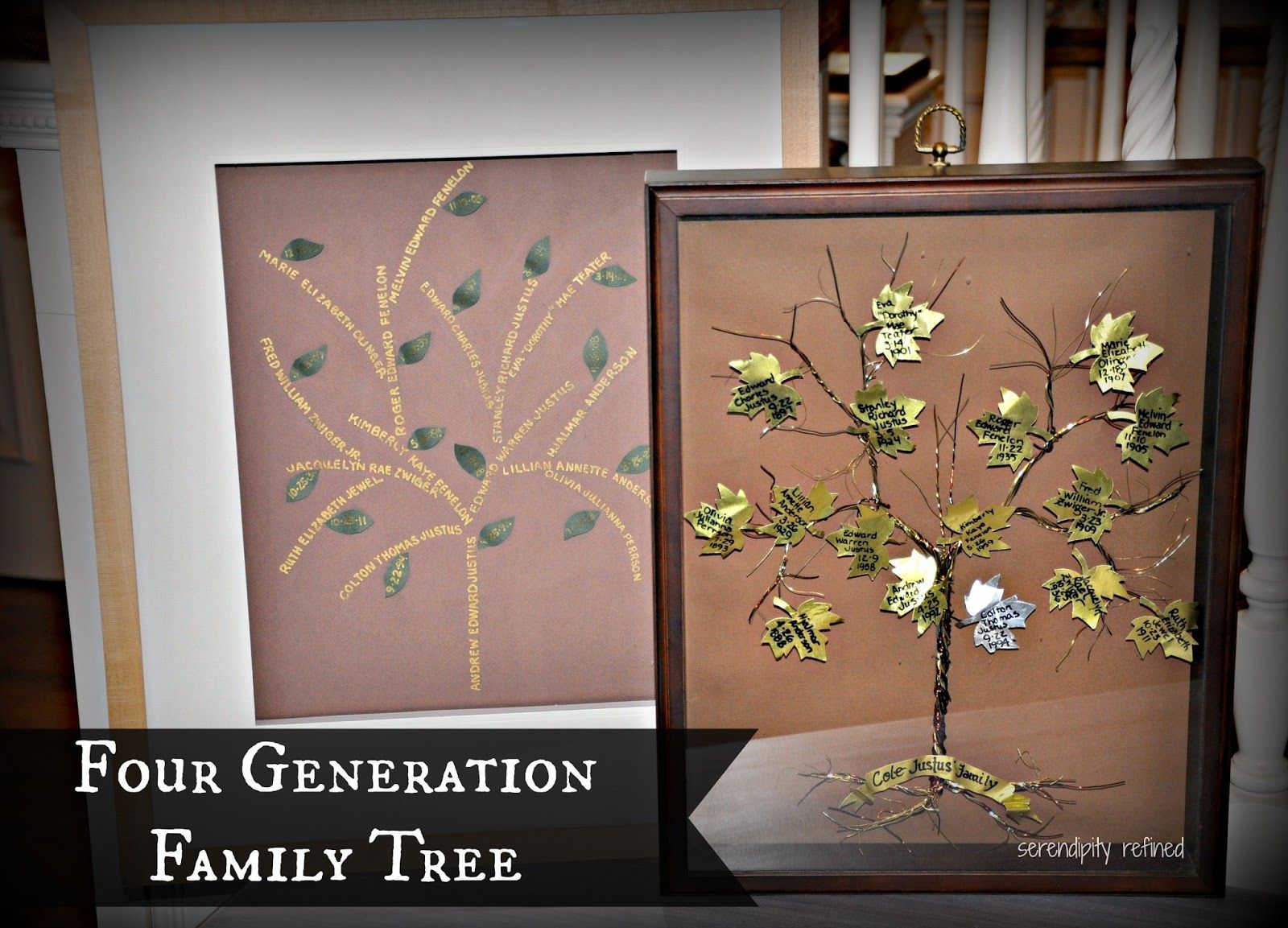 Creative+Four+Generation+Family+Tree+Project+1.jpg 1,600×1,153 ...