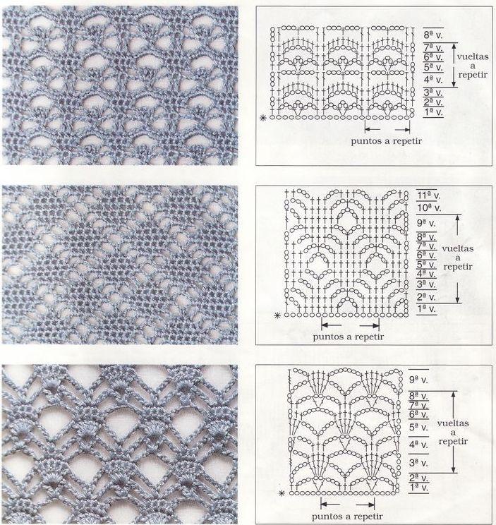 h kelmuster h keln muster openwork crochet patterns stitches muster und anleitungen. Black Bedroom Furniture Sets. Home Design Ideas