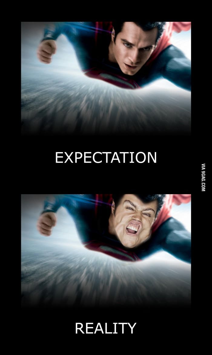 If you could fly like Superman this is how you would look like