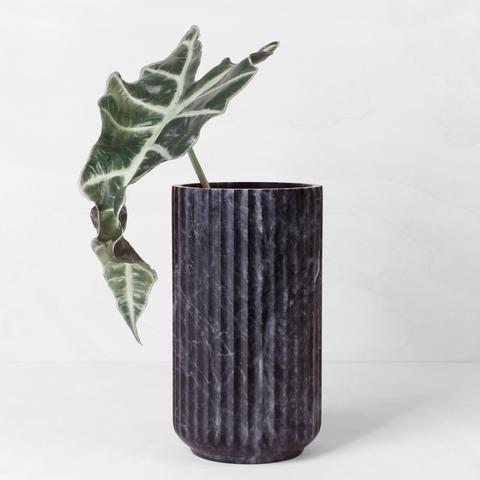 Lyngby Jubilæumsvase - Sort marmor 20 cm