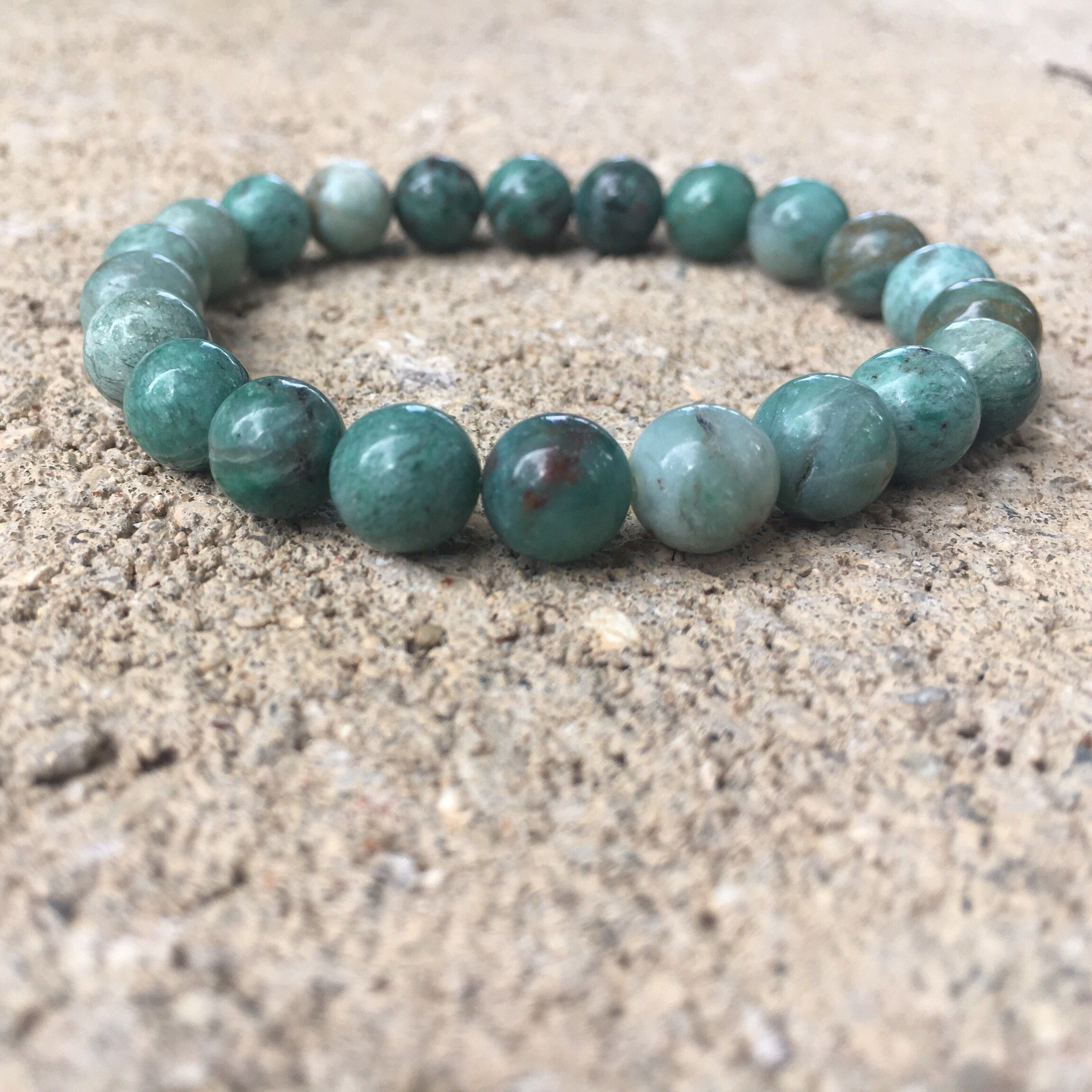 genuine green malachite s bracelet travel stone protection gift yoga pin men mala for lava