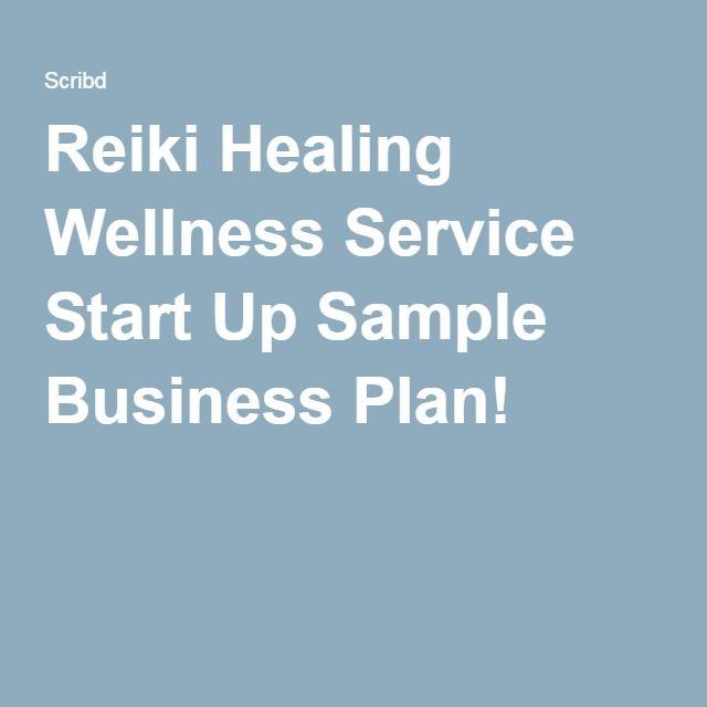 reiki healing wellness service start up sample business plan