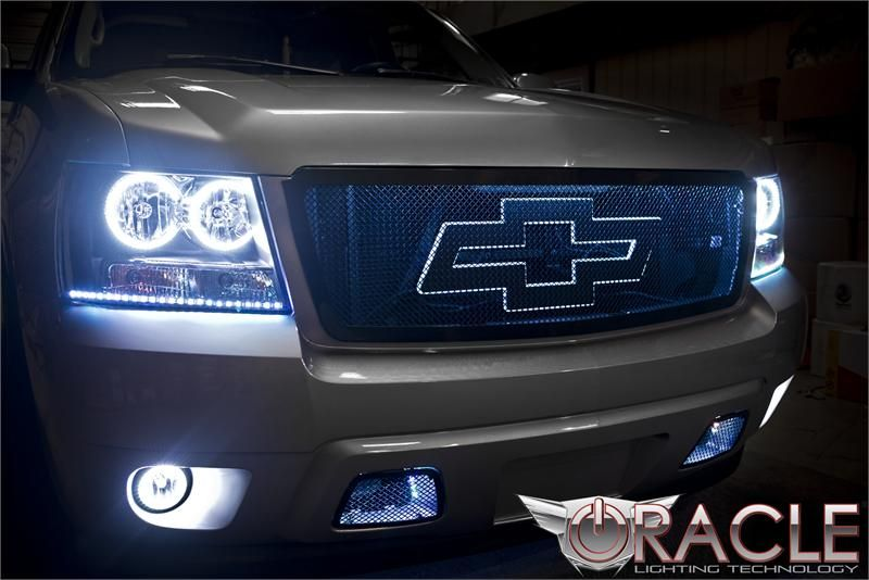 2007 To 2014 Avalanche Oracle Halo Fog Lights Complete Assembly Gmc Trucks Chevy Trucks Chevy Tahoe