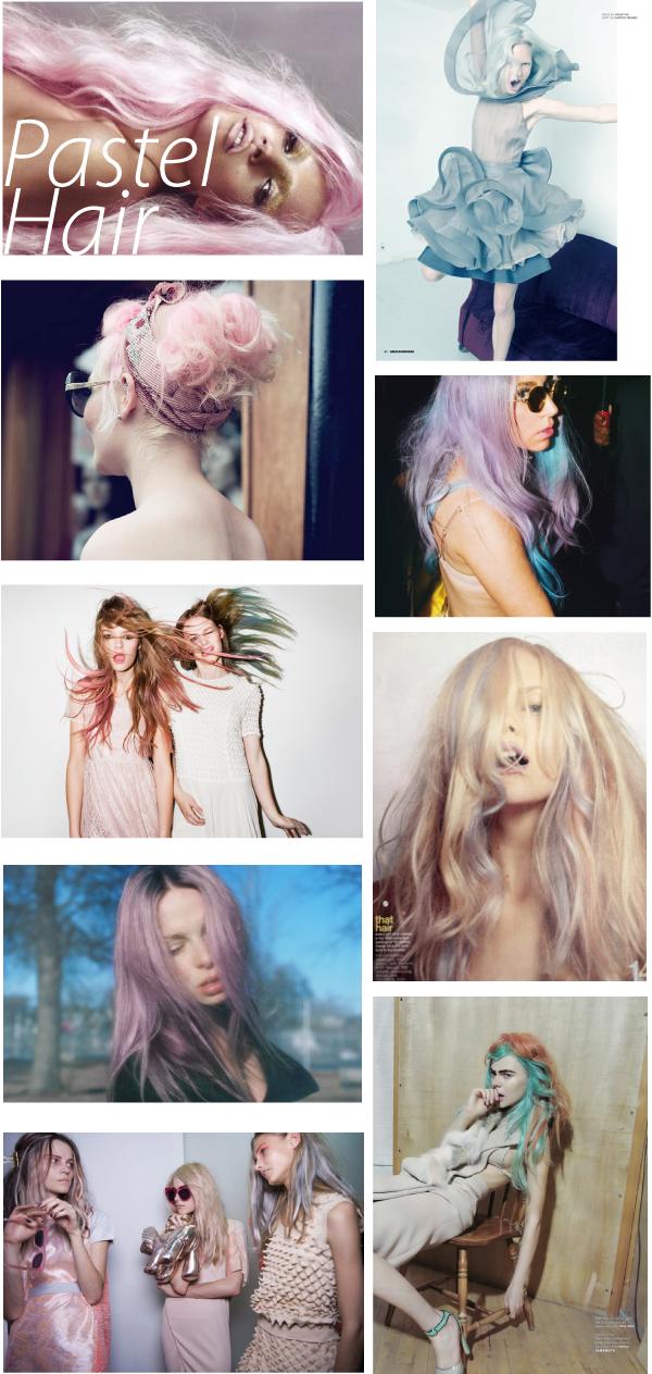 Pasteles, desde rosados hasta turquesas.