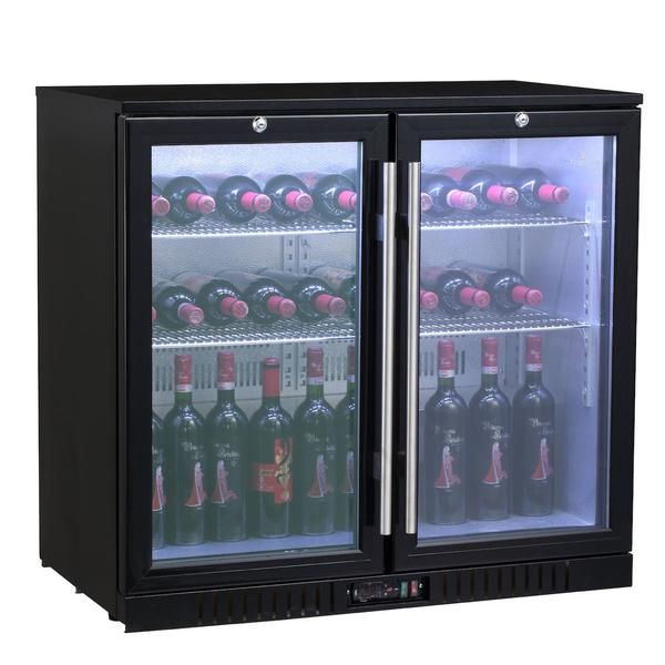 Description This 2 Door Back Bar Fridge Offers Large Storage Capacity The Interior Components Are Designed To Last With An Lg Compres Bar Fridges Back Bar Bar