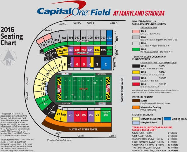 Seating Charts Football Ticket Penn State Maryland