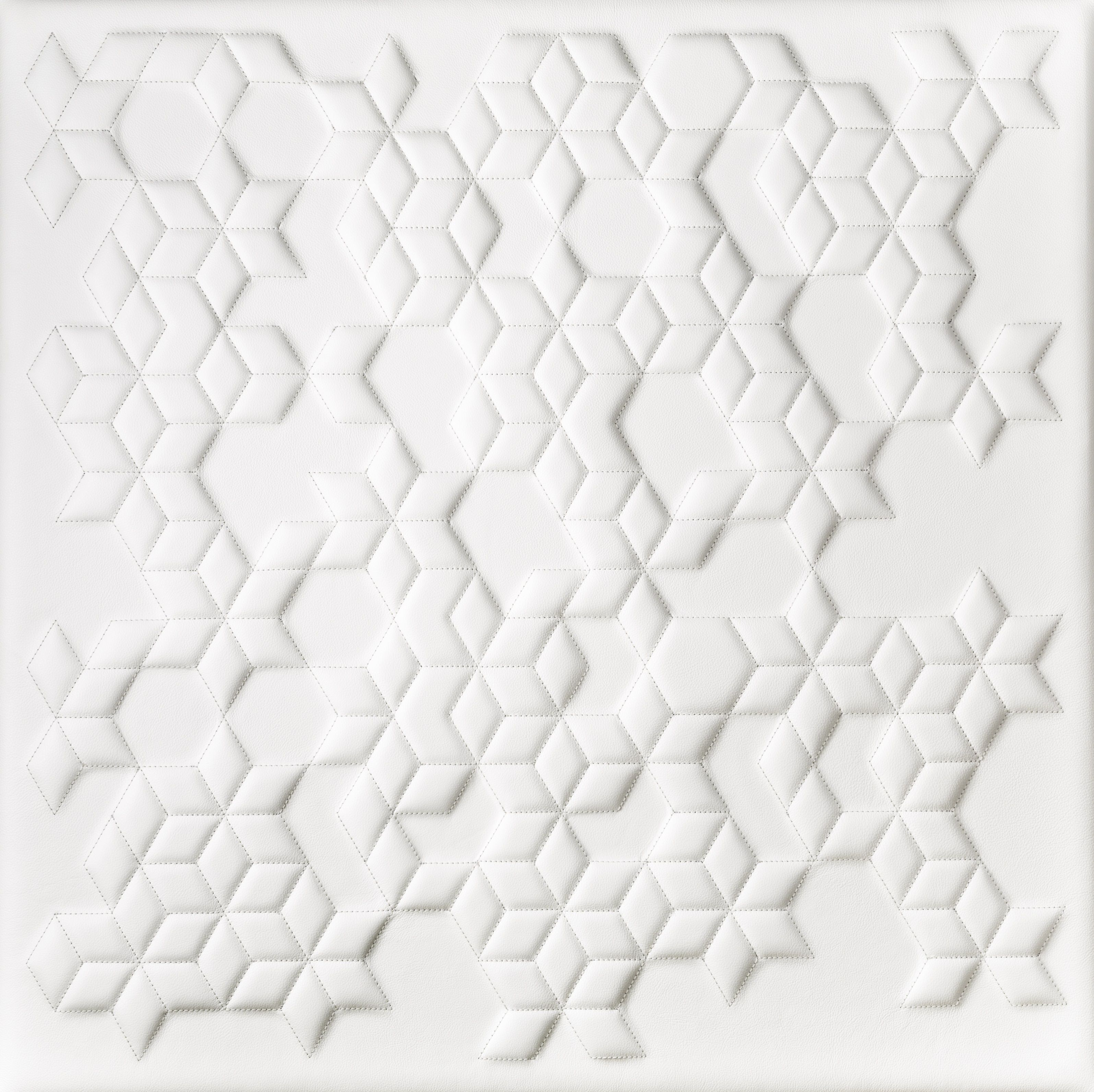 3d Leather Wall Panel In A Quilted Diamond Design By Bms