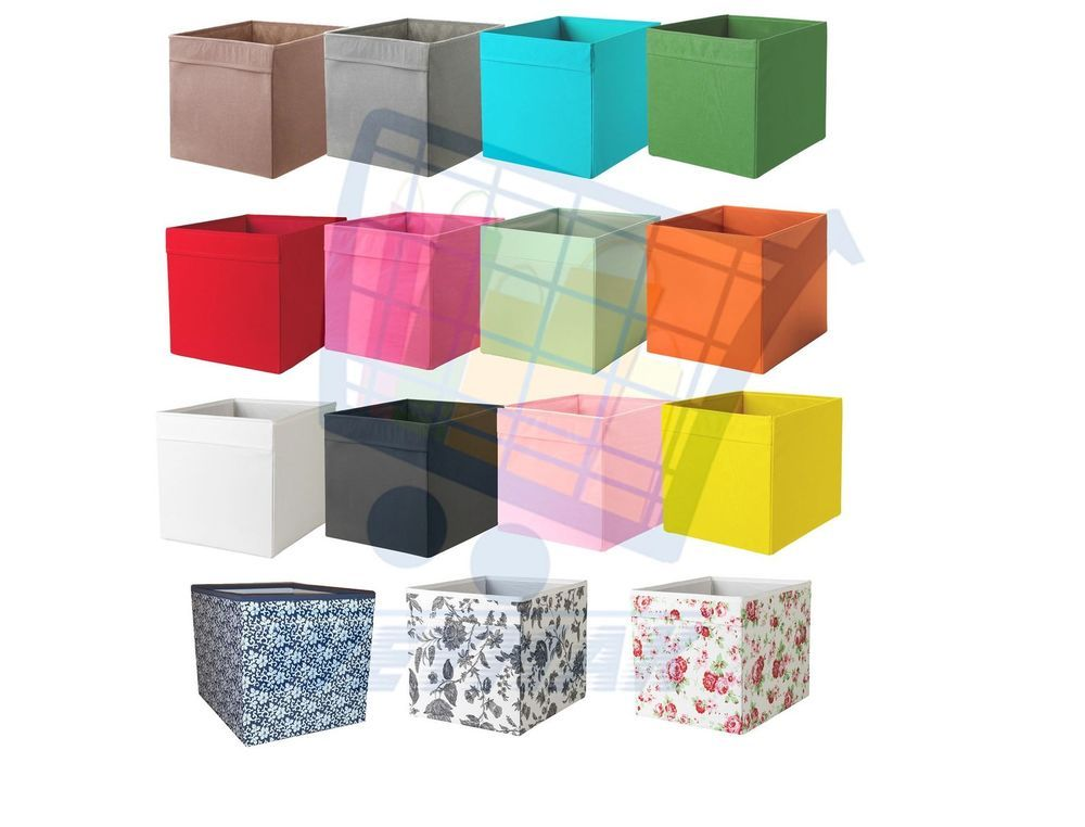 Childrens Kids 3 Tier Toy Bedroom Storage Shelf Unit 8: IKEA DRONA Box Fabric Storage Expedite Kallax Shelving