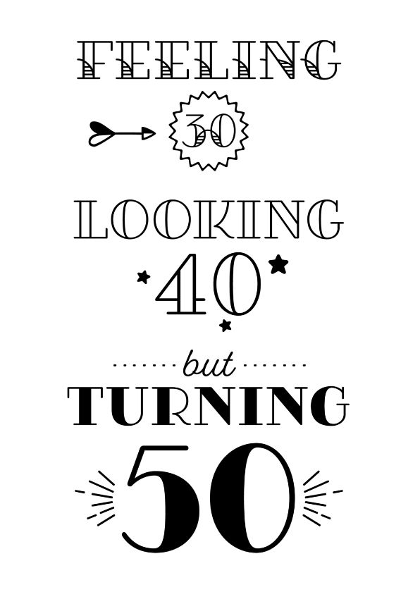 Hedendaags Verjaardagskaart turning 50 - 50ste verjaardag citaten OD-94
