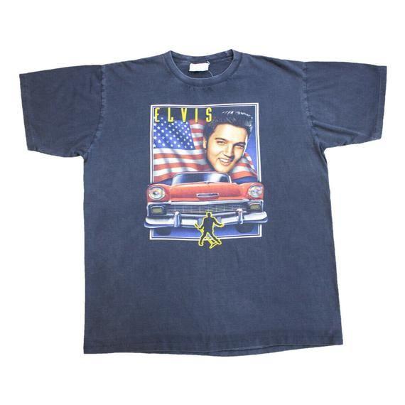 Elvis Presley Short Sleeve Tshirt | American Car Rock and Roll #rockandrolloutfits
