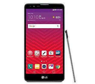 Virgin Mobile LG Stylo 2 with Car Charger. AppPack, & Stylus