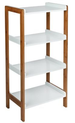 Buy Argos Home 4 Tier Bamboo Shelf Unit Two Tone Bathroom Shelves And Storage Units In 2020 Bamboo Shelf Shelves Bathroom Storage Shelves