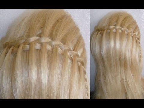 Wasserfall Frisur Einfache Anleitung Easy Zopf Flechtfrisuren Waterfall Braid Hairstyle Peinad Wasserfall Frisur Geflochtene Frisuren Frisuren Flechtfrisuren
