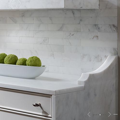 Kitchen Detail Marble Tile Backsplash Kitchen Design Kitchen Marble