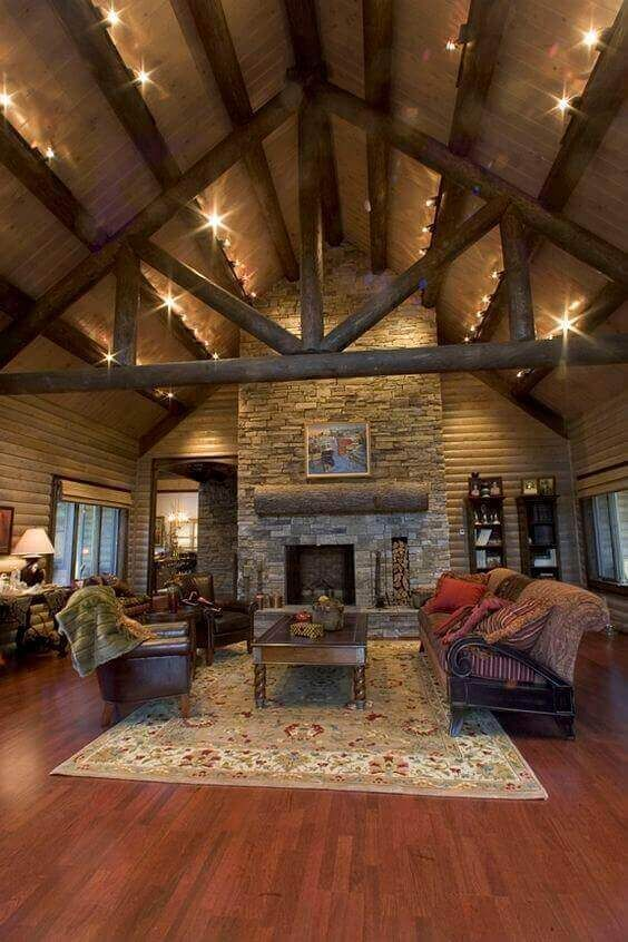 36 Great Exposed Beam Ceiling Lighting Ideas Extreme Makeover Home Edition Pole Barn Homes Rustic House