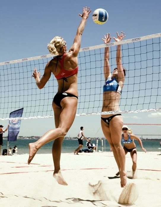 Pin On Beach Volleyball Babe