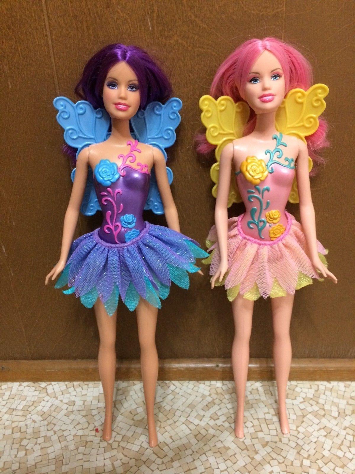 Find great deals on ebay for barbie hair extensions doll barbie light - Pink Purple Hair Fairy Fairytopia Mermaidia Barbie Doll Flower Body Tutu Wings Ebay