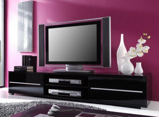 Tv Lowboard Sideboard Schwarz Hochglanz Lack 23 00310 Sideboard