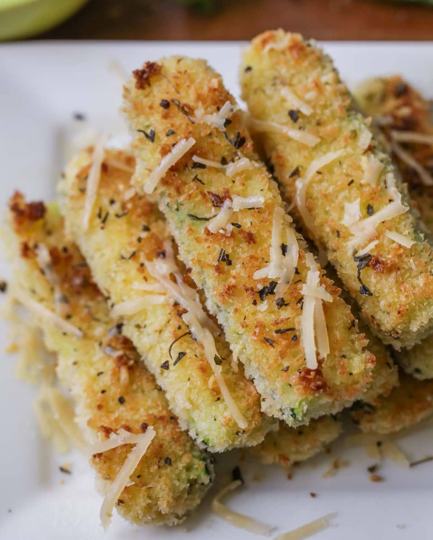 Baked Zucchini Fries Lil' Luna Recipe Zucchini fries